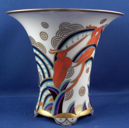 Rosenthal Art Deco Wendler Indra Vase 1